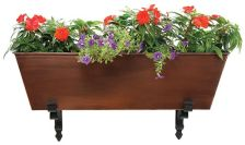 Achla C82C Galvanized Tin Flower Box