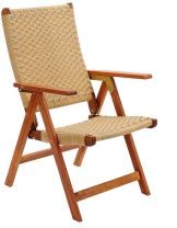 Achla OFC03 Poly Weave Folding Chair