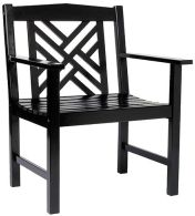 Achla OFC10B Fretwork Arm Chair